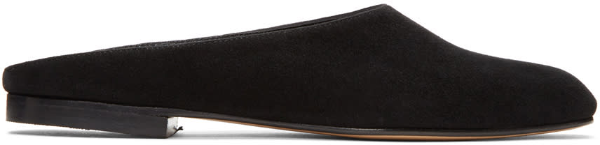 Image of Maryam Nassir Zadeh Black Suede Maryam Mules
