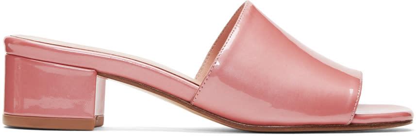 Maryam Nassir Zadeh Pink Patent Sophie Slides