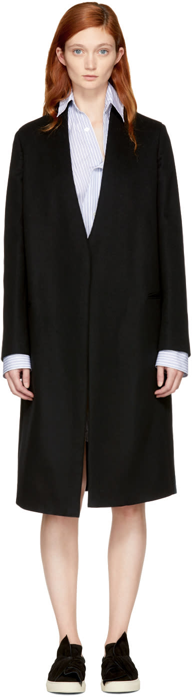 Image of Ports 1961 Black Single-button Coat
