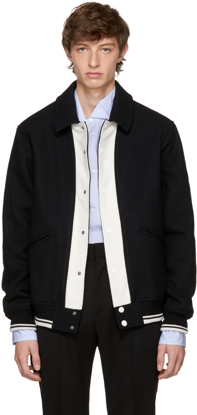 Image of Ports 1961 Black and Off-white follow Me Bomber Jacket