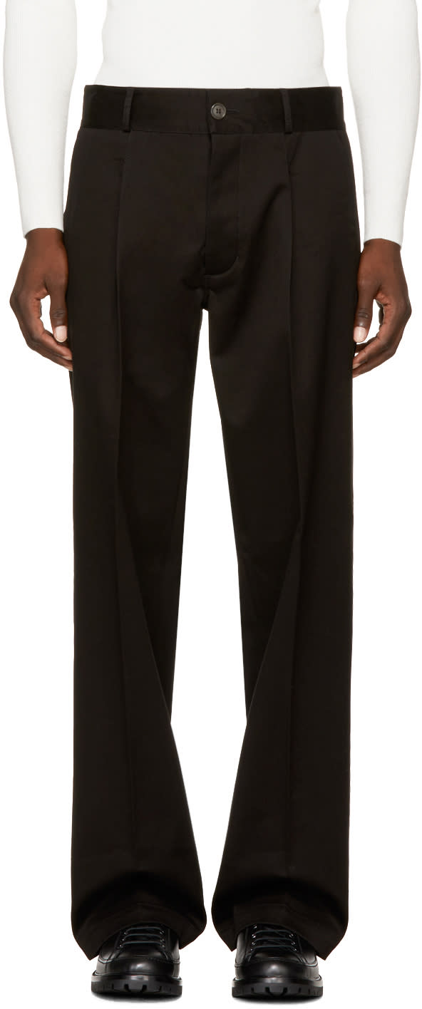 Image of Ports 1961 Black Casual Trousers