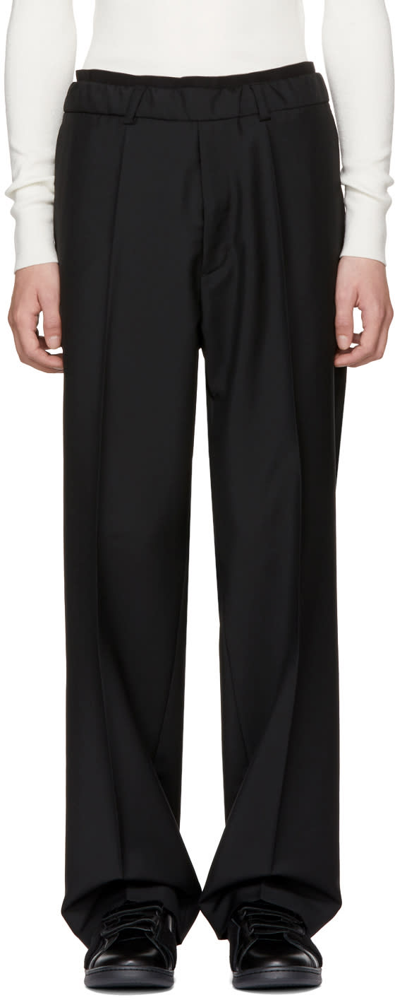 Image of Ports 1961 Black Casual Drawstring Trousers