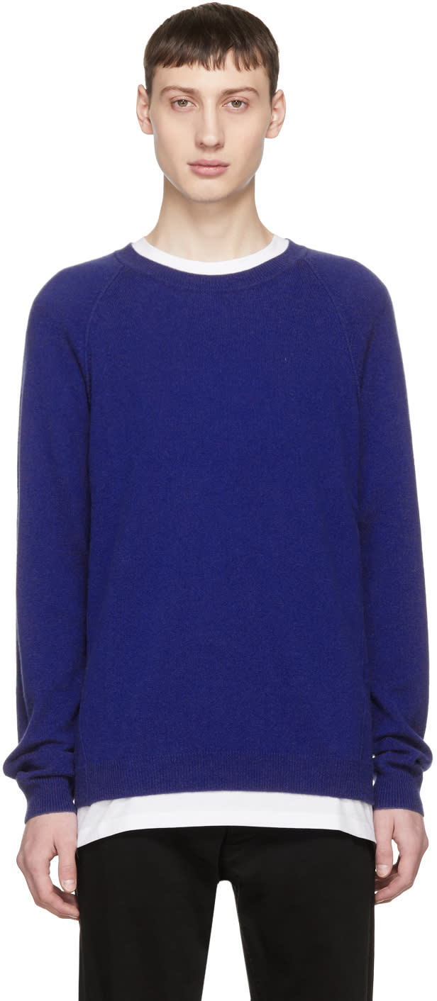 Image of Ports 1961 Blue Cashmere Sweater