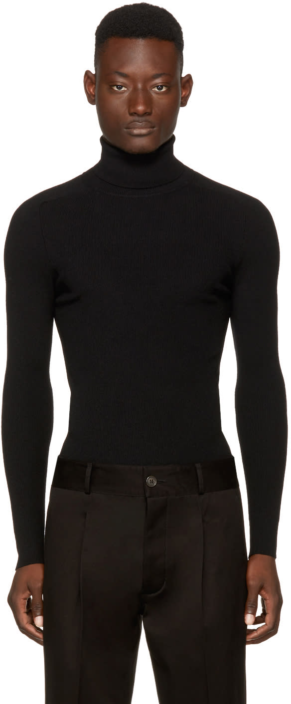 Image of Ports 1961 Black Wool Turtleneck
