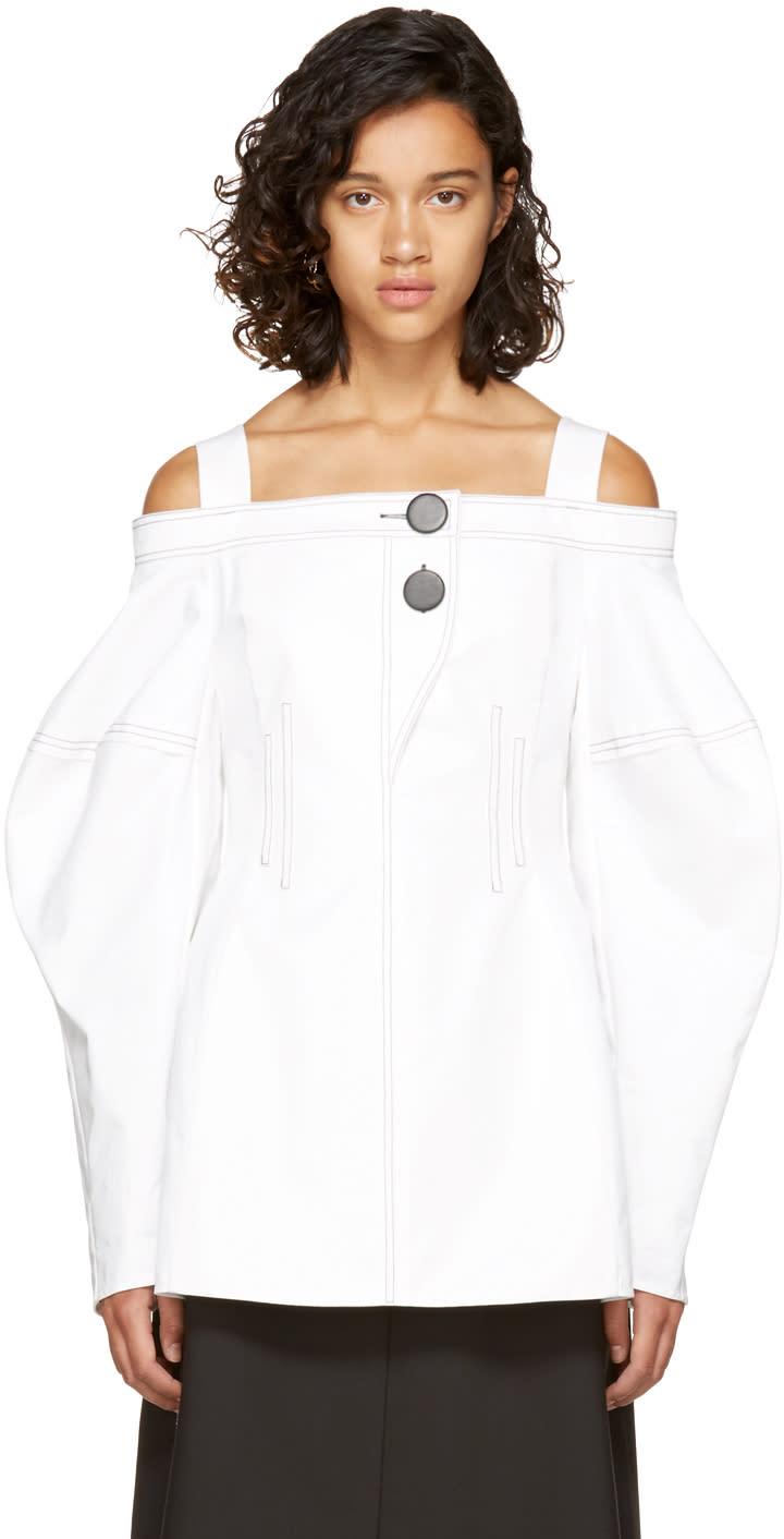 Image of Ellery White Sugar Off-the-shoulder Blouse