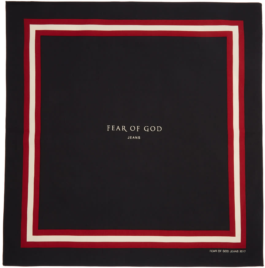 Image of Fear Of God Black Logo Bandana