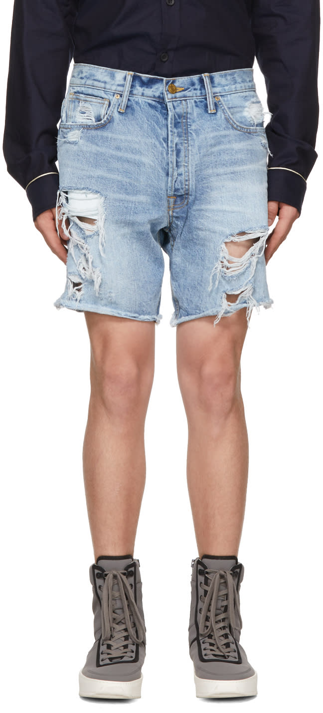 Image of Fear Of God Blue Selvedge Denim Shorts