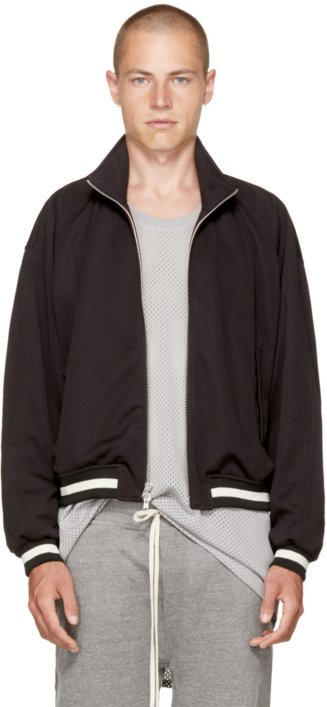 Image of Fear Of God Black Double Knit Track Jacket