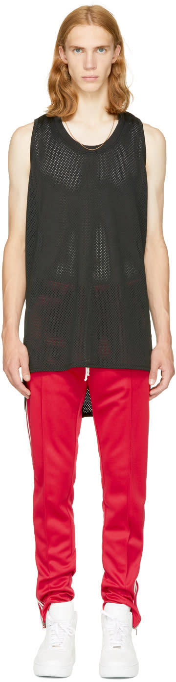 Image of Fear Of God Black Mesh Tank Top