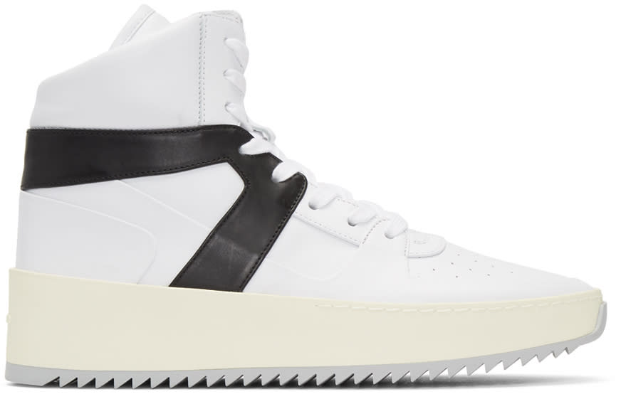 Fear Of God White and Black Basketball High-top Sneakers