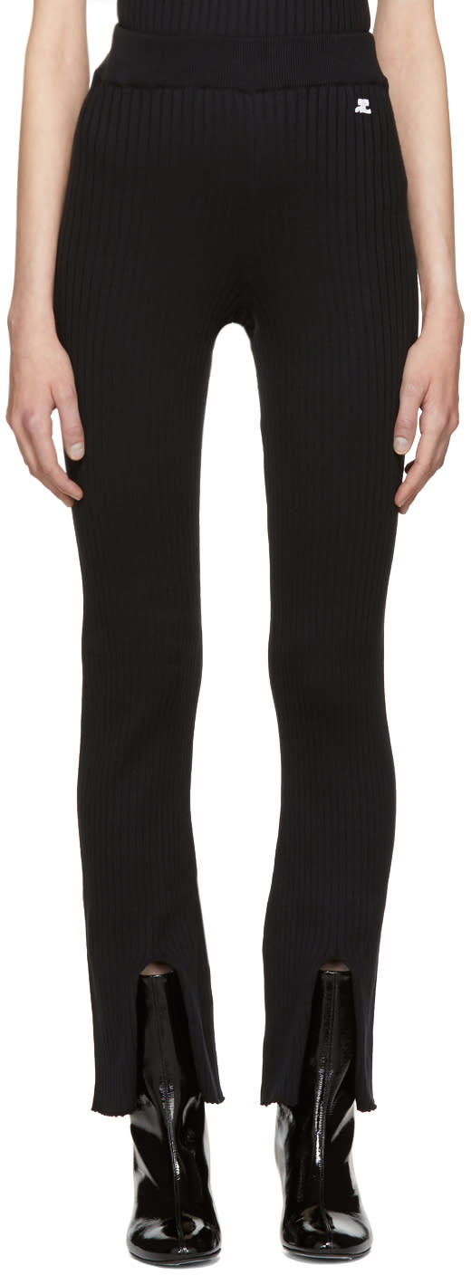 Image of Courrèges Black Classic Knit Trousers