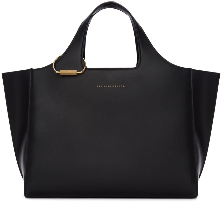 Image of Victoria Beckham Black Newspaper Bag