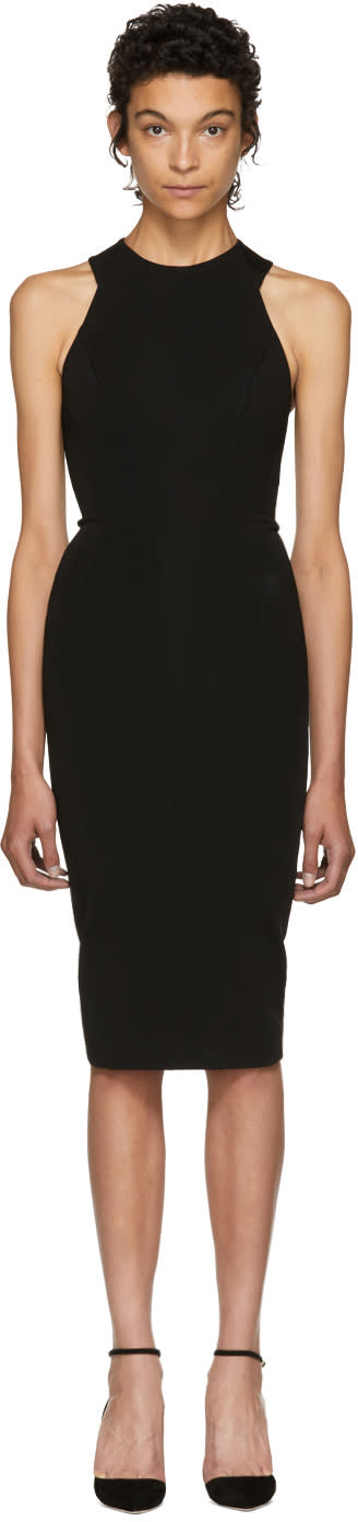 Image of Victoria Beckham Black Cut-out Back Dress