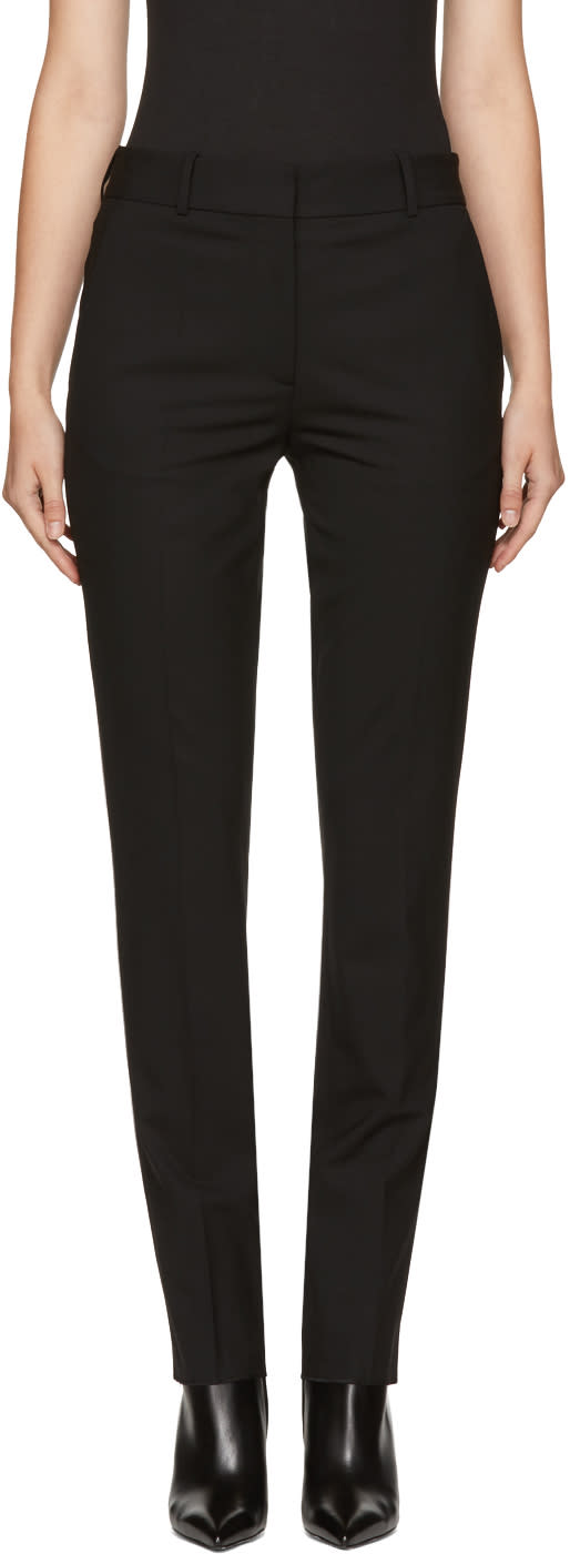 Image of Victoria Beckham Black Slim Wool Trousers