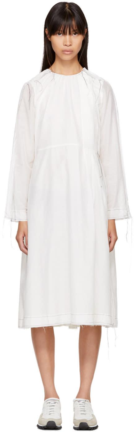 Image of Sara Lanzi Ecru Winglet Dress