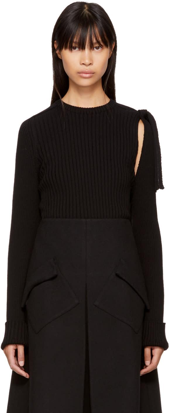 Image of Sara Lanzi Black Detached Sleeve Pullover
