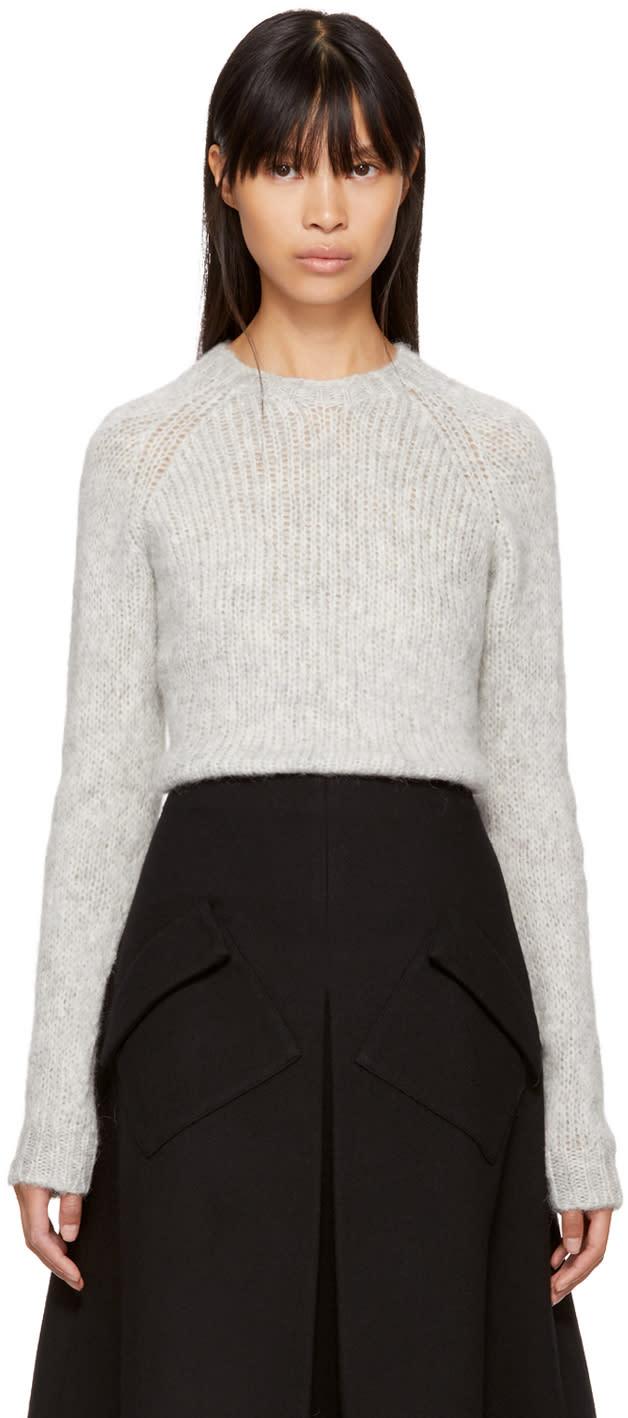 Image of Sara Lanzi Grey Alpaca Sweater
