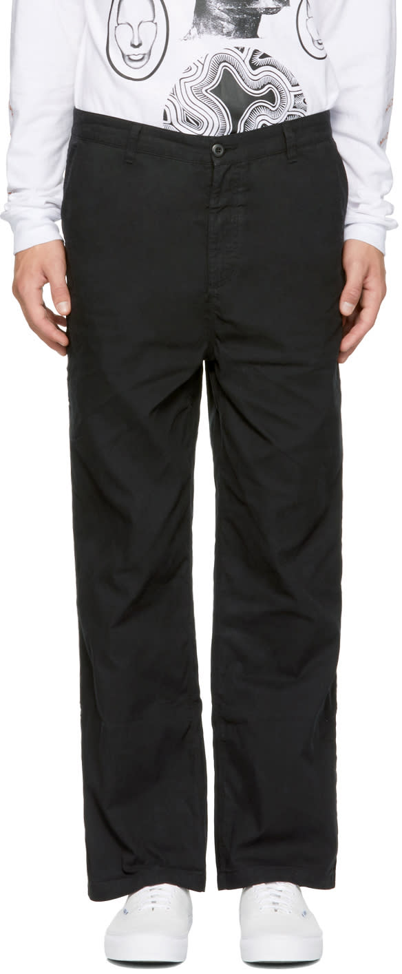 Image of Perks And Mini Black Dm Cut Chino Trousers