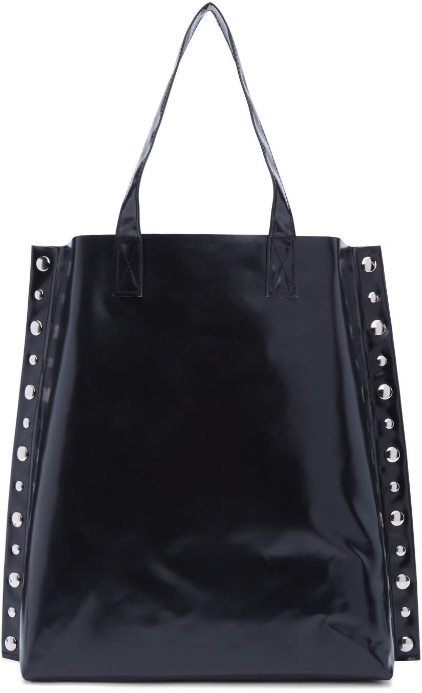Image of Tricot Comme Des Garçons Black Large Studded Pvc Tote