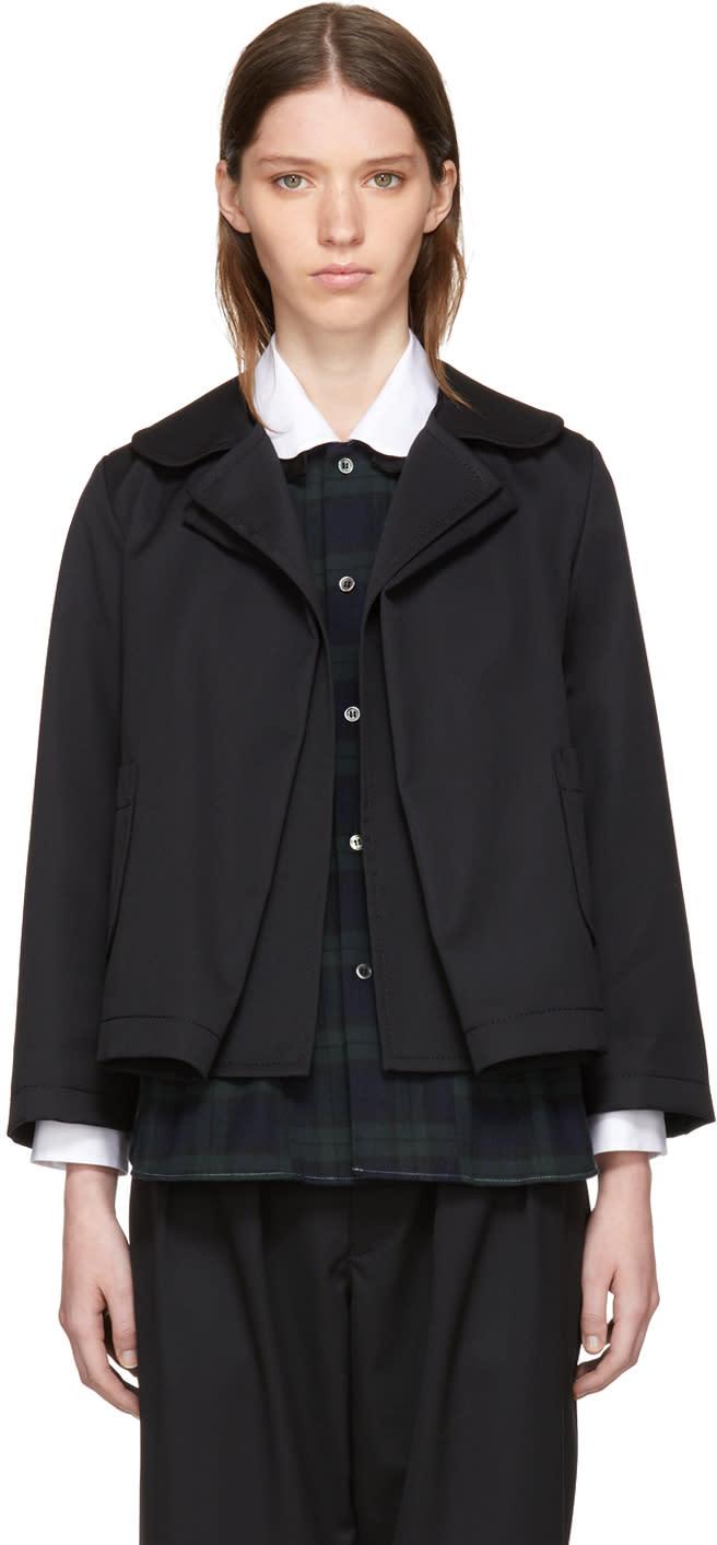 Image of Tricot Comme Des Garçons Black Rounded Collar Jacket