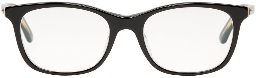Image of Dior Black Montaigne Rectangular Glasses