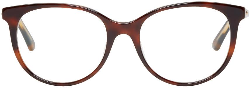 Image of Dior Tortoiseshell Montaigne 16 Glasses