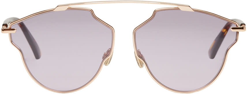 Image of Dior Rose Gold and Purple So Real Pop Sunglasses