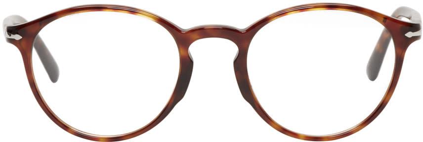 Image of Persol Tortoiseshell Round Glasses