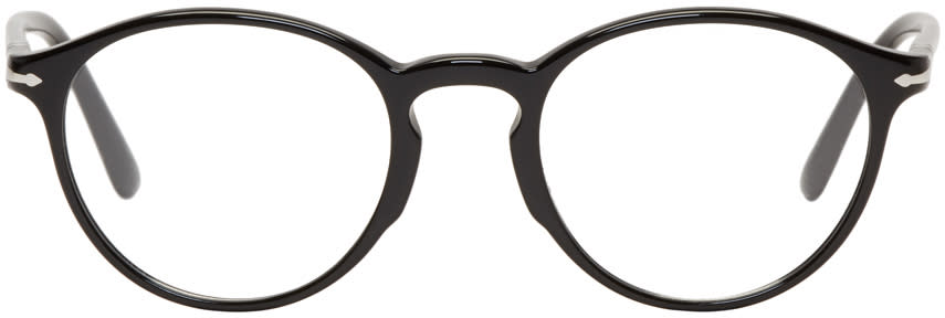 Image of Persol Black Round Glasses
