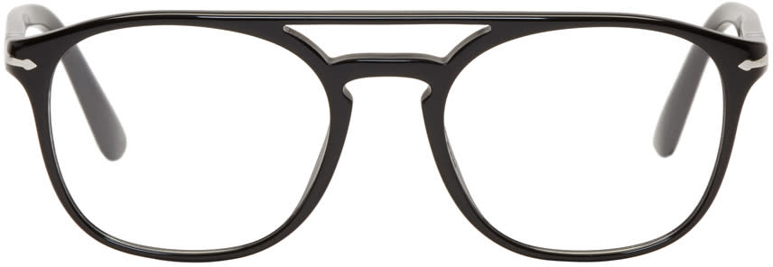 Image of Persol Black Top Bar Glasses