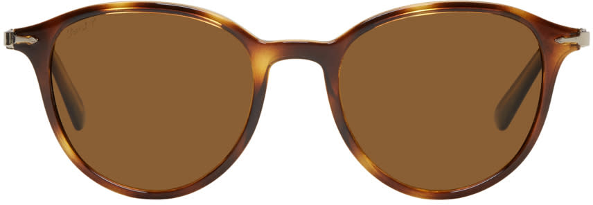 Image of Persol Tortoiseshell Officina Sunglasses