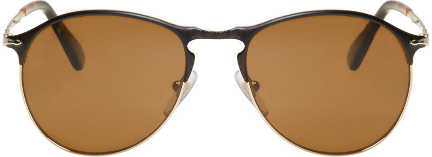 Image of Persol Black Sartoria Sunglasses