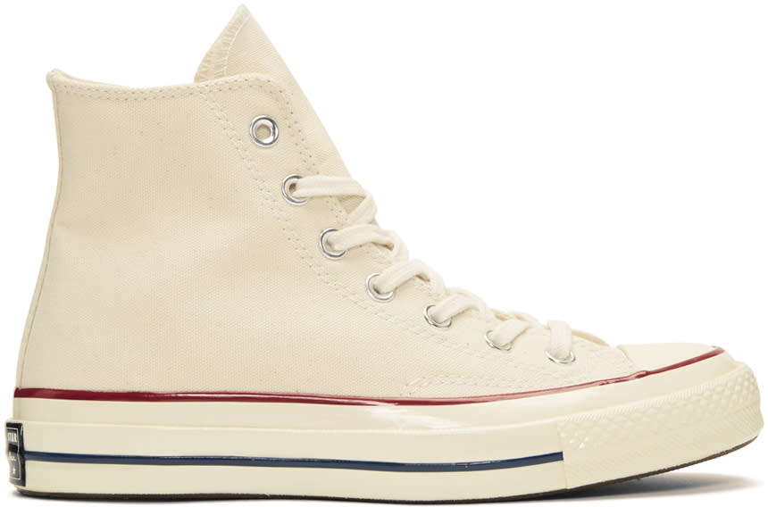 Image of Converse Off-white Chuck Taylor All-star 1970s High-top Sneakers