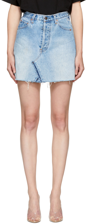 Re-done Blue Levis Edition Denim High-rise Miniskirt