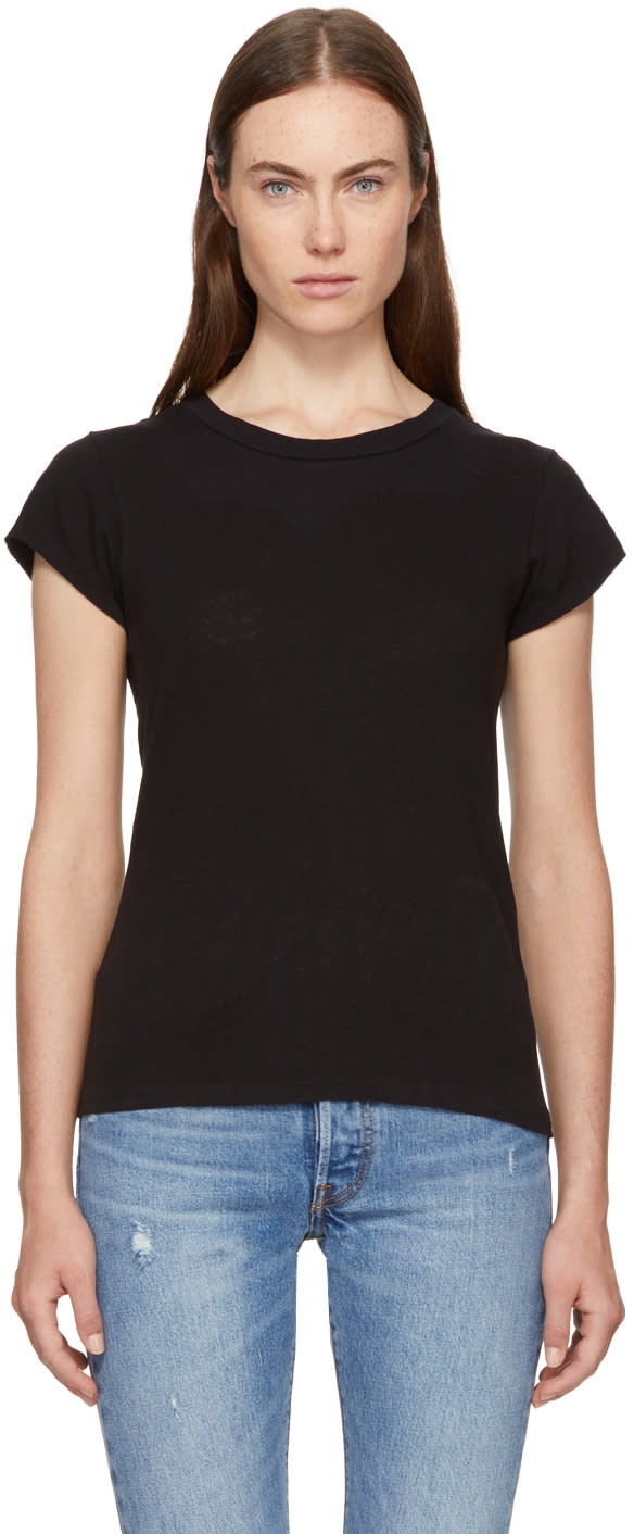 Image of Re-done Black 1960s Slim T-shirt