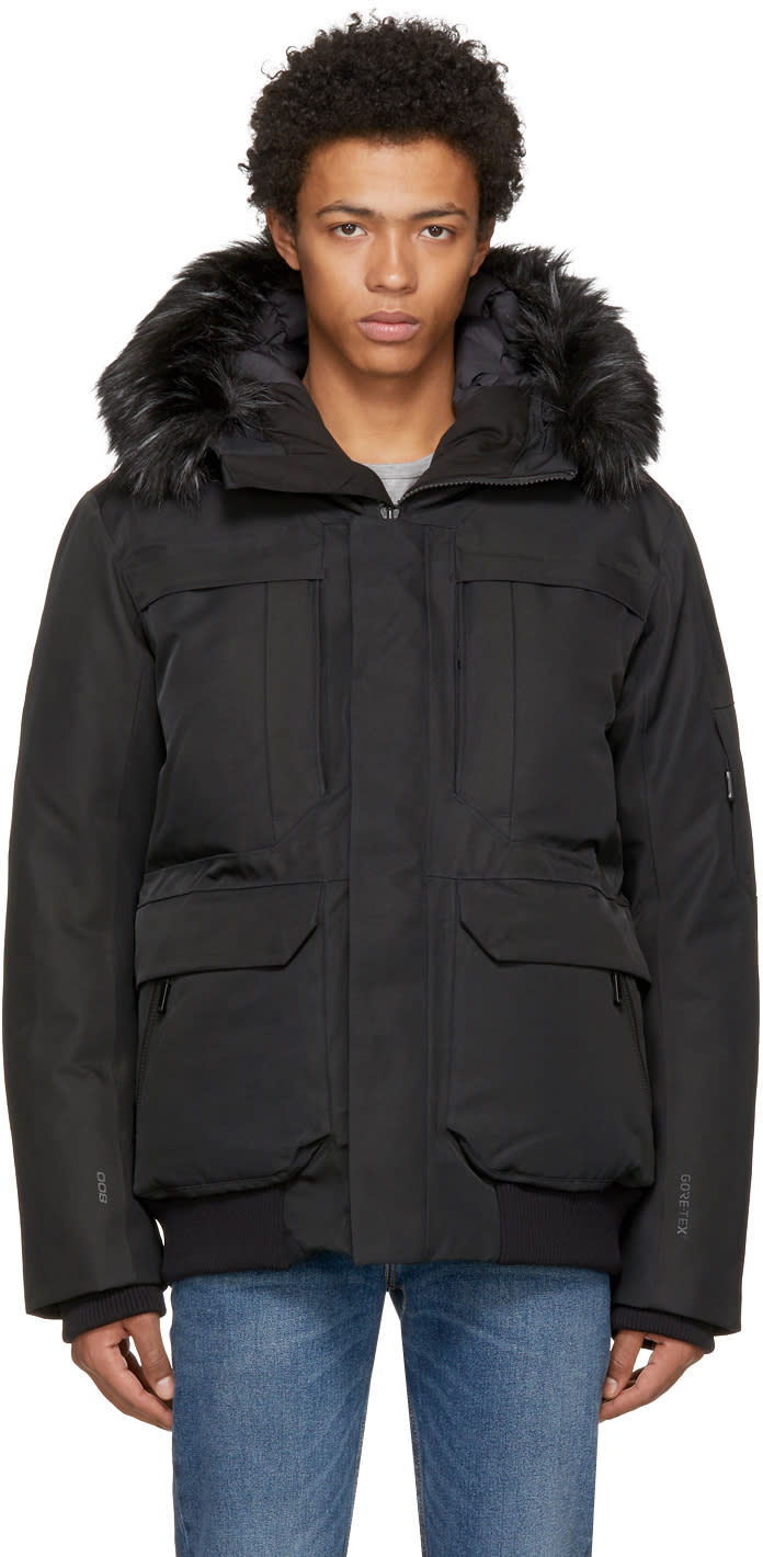 Image of The North Face Black Down Cryos Gtx Expedition Bomber Jacket