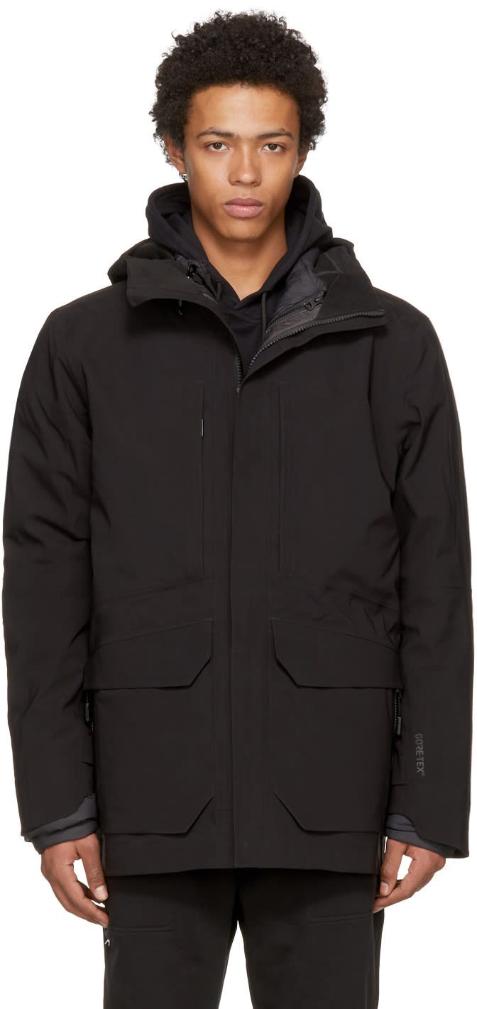 Image of The North Face Black Down Layered 3-in-1 Cryos Gtx Jacket