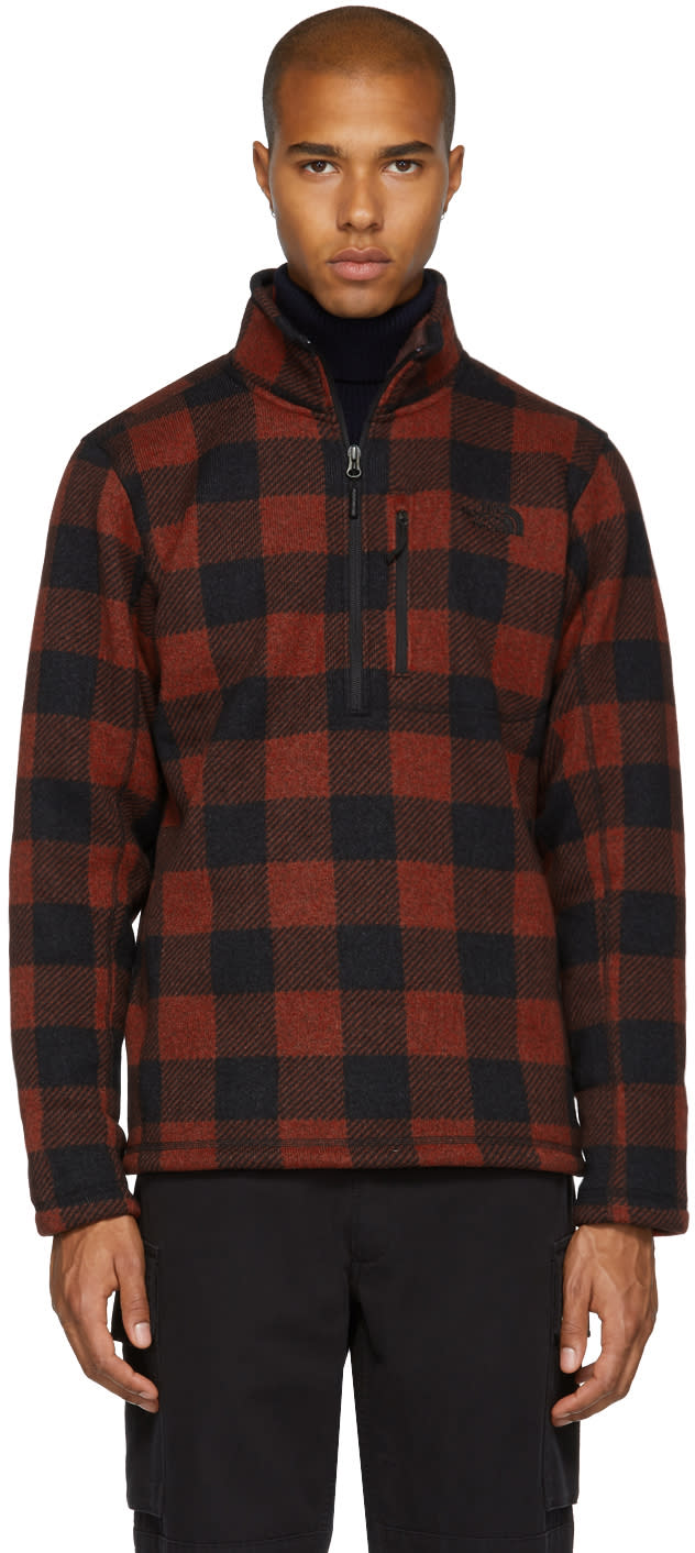 Image of The North Face Red Novelty Gordon Lyons Turtleneck