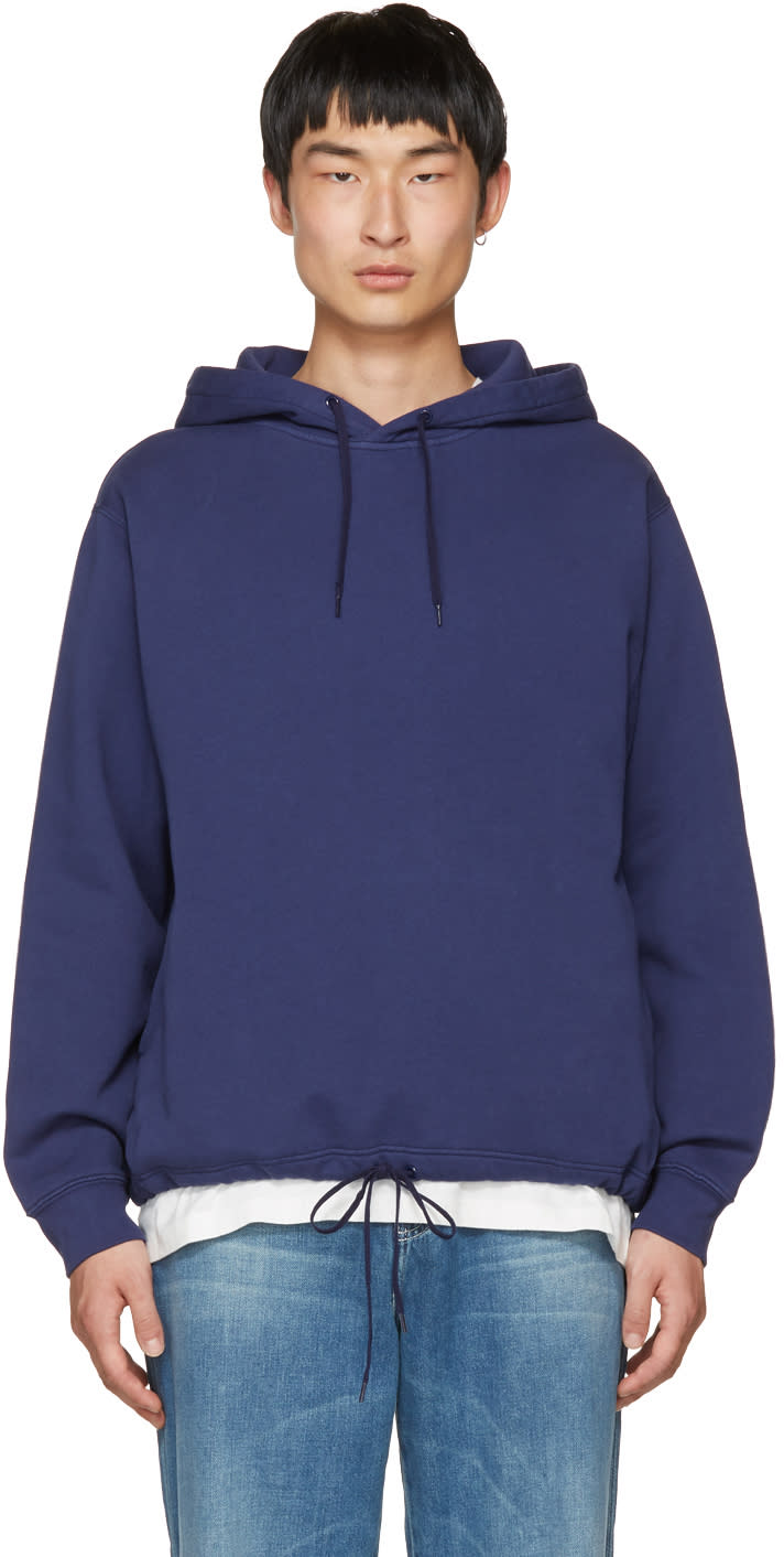Our Legacy Blue splash Open Hoodie