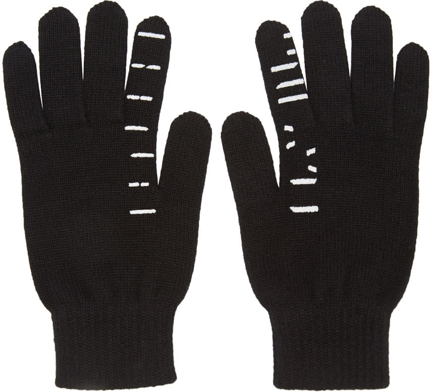 Image of Unravel Black Cashmere Tattoo Gloves