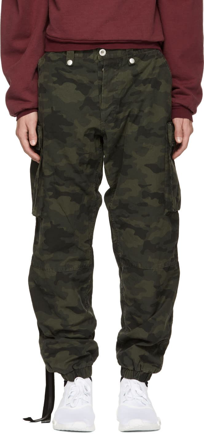 Image of Unravel Green Camouflage Ripstop Cargo Pants