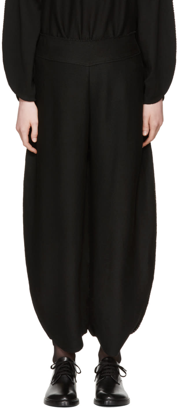 Image of Issey Miyake Black Oval Ap Trousers