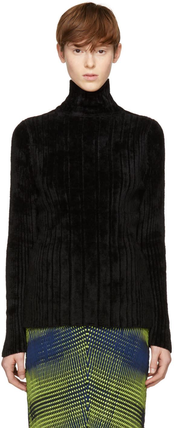 Image of Issey Miyake Black Mole Knit Turtleneck
