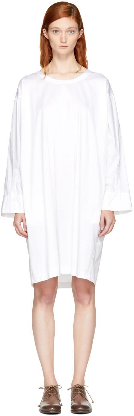Image of Nehera White Deron T-shirt Dress