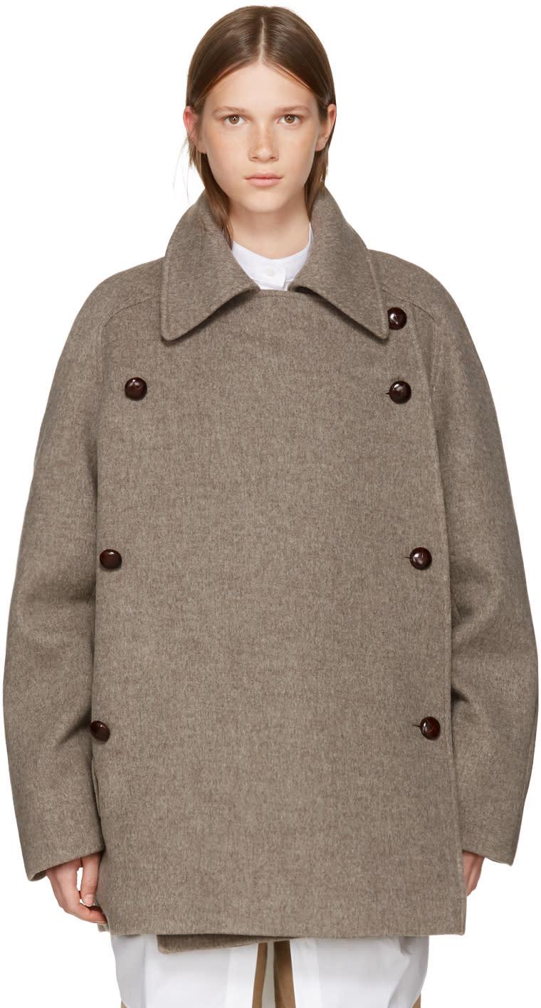 Image of Nehera Brown Merino Colina Coat