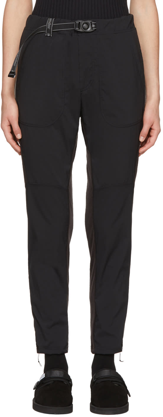 Image of And Wander Black Fleece Base Trousers