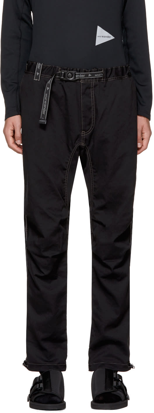 Image of And Wander Black Climbing Trousers
