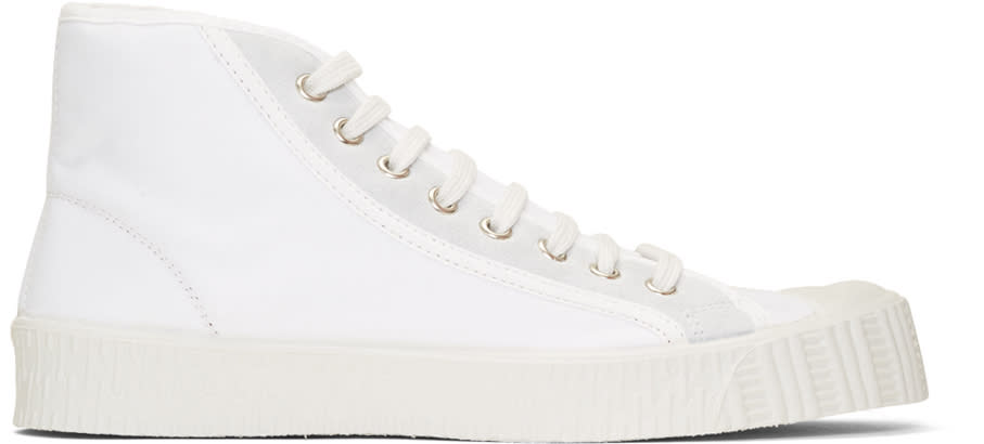 Image of Spalwart White Special Mid-top Sneakers