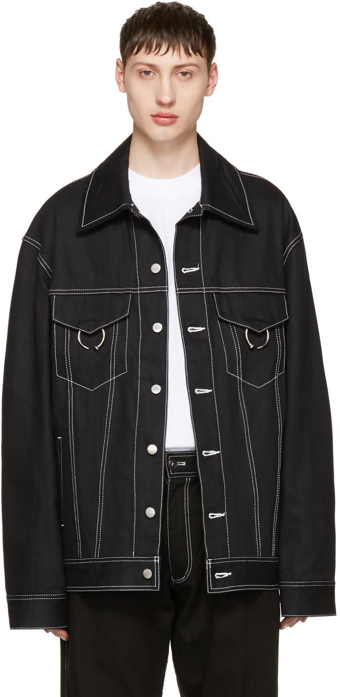 Ambush ブラック オーバーサイズ デニム ジャケット
