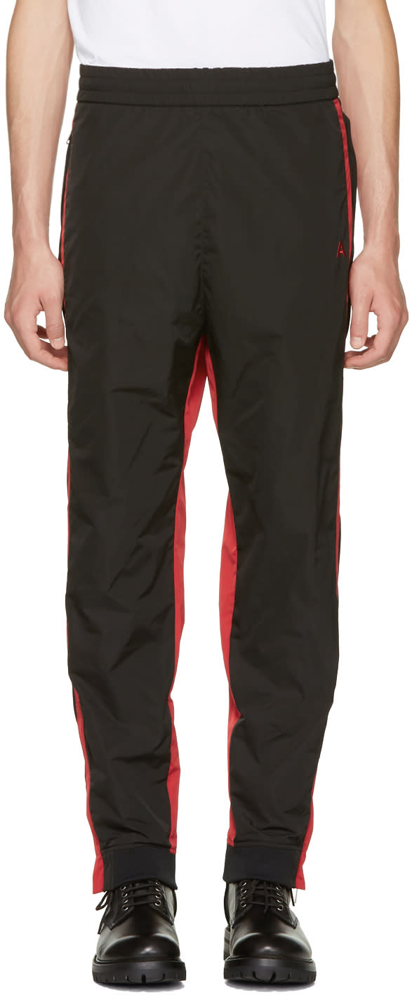 Image of Ambush Black and Red Track Pants
